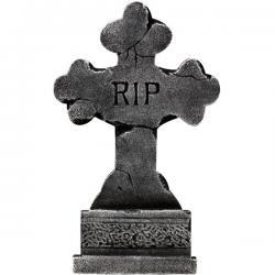 Lápida en cruz RIP - Imagen 1