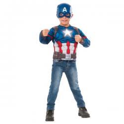 Kit disfraz de Capitán América Civil War con estrella brillante para niño - Imagen 1