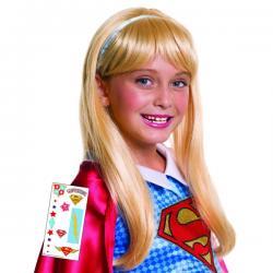 Peluca de Supergirl DC Super Hero Girls para niña - Imagen 1