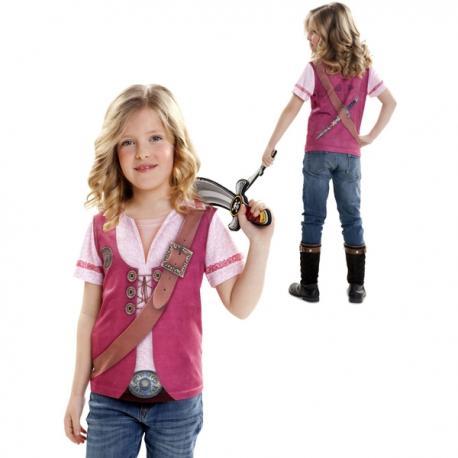 Camiseta de pirata para niña - Imagen 1