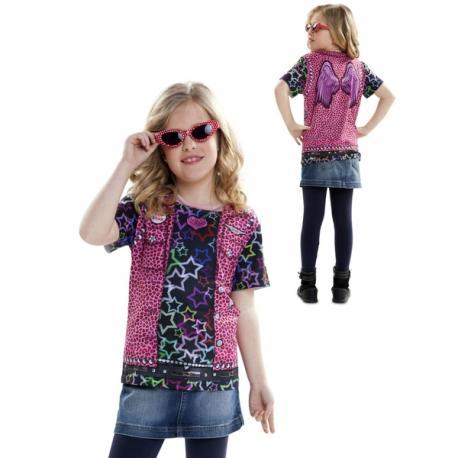 Camiseta de estrella del rock para niña - Imagen 1