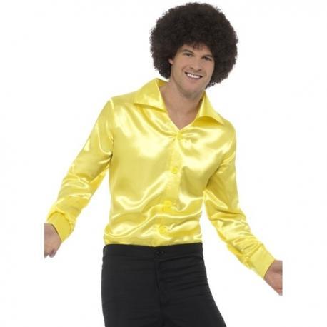 6ec4f0ed8e2e Comprar Camisa de raso amarilla para hombre