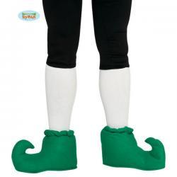 Zapatos de elfo verdes puntiagudos para adulto - Imagen 1