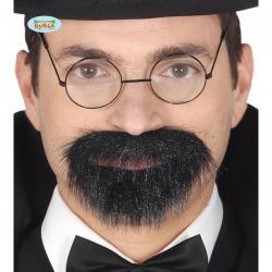 Perilla negra con adhesivo para hombre - Imagen 1