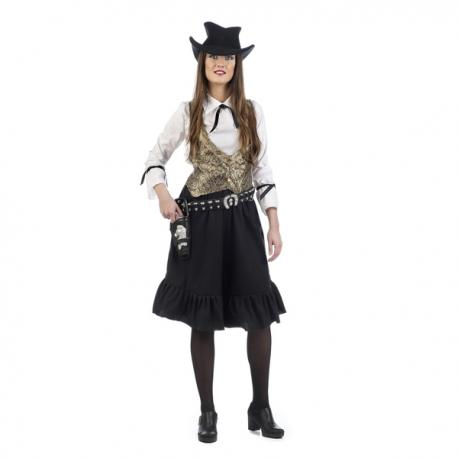 1e4d6e646e Disfraz de vaquera del oeste dorada para mujer. Comprar Online