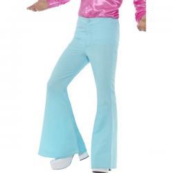 Pantalón de los años 70 azul para hombre - Imagen 1