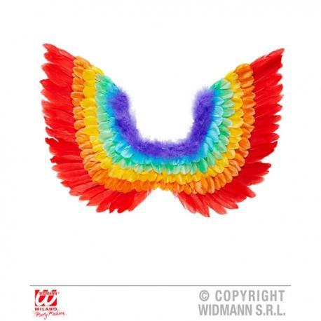 Alas de plumas arcoiris para adulto - Imagen 1