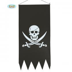 Bandera pirata negra con calavera - Imagen 1