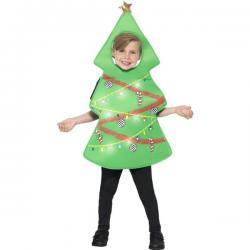 Disfraz de árbol de navidad luminoso infantil - Imagen 1