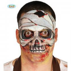 Careta de esqueleto momia de papel maché para adulto - Imagen 1
