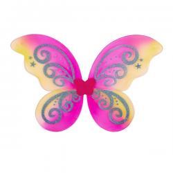 Alas de mariposa rosa con purpurina para niña - Imagen 1