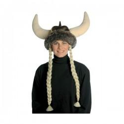 Gorro de vikingo con trenzas rubias - Imagen 1