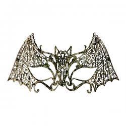 Antifaz de murciélago metálico para adulto - Imagen 1