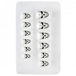 Uñas de calaveras adhesivas para mujer - Imagen 1
