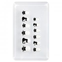 Uñas de gato adhesivas para niña - Imagen 1