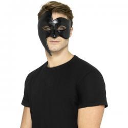 Media máscara de fantasma de la ópera negra para hombre - Imagen 1