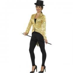 Chaqueta de lentejuelas dorada para mujer - Imagen 1