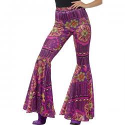 Pantalones acampanado floreado para mujer - Imagen 1