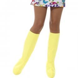Cubrebotas amarillos clásicos para adulto - Imagen 1
