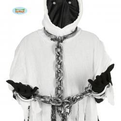 Grilletes de cuello y manos con cadena de 110 cm - Imagen 1