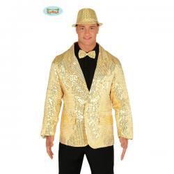 Chaqueta de lentejuelas doradas para hombre - Imagen 1