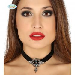 Gargantilla gótica con cinta negra - Imagen 1