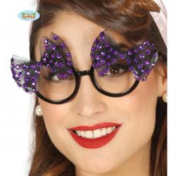 Gafas con dos lazos morados para mujer - Imagen 1