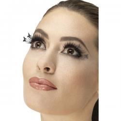 Pestañas negras con mariposas para mujer - Imagen 1