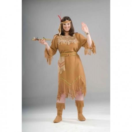 Disfraz de india americana talla grande - Imagen 1