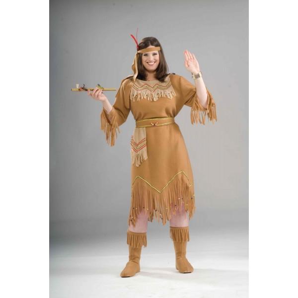 Comprar Disfraz De India Americana Talla Grande Online - Disfraz-india-americana