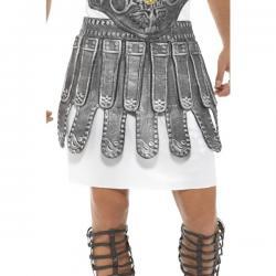 Falda de romano plateada para adulto - Imagen 1