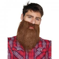 Barba castaña hípster pada hombre - Imagen 1