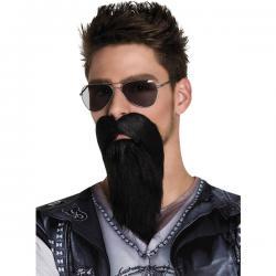 Barba morena de motero malote para adulto - Imagen 1