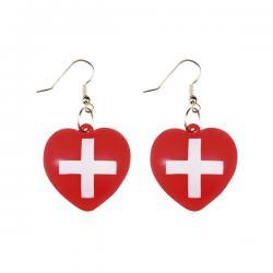 Pendientes de enfermera con corazón para mujer - Imagen 1