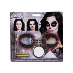 Set de maquillaje Catrina para adulto - Imagen 1