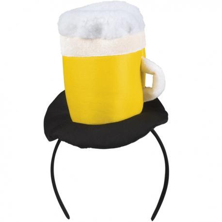 Diadema con jarra de cerveza para adulto - Imagen 1
