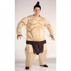 Disfraz de luchador de sumo musculoso - Imagen 1