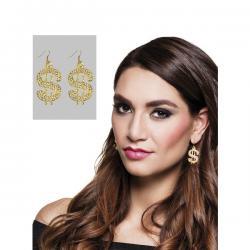 Pendientes de dólar pimp para mujer - Imagen 1
