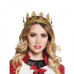 Corona de reina medieval para mujer - Imagen 1