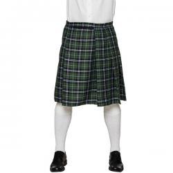 Falda escocesa verde para hombre - Imagen 1