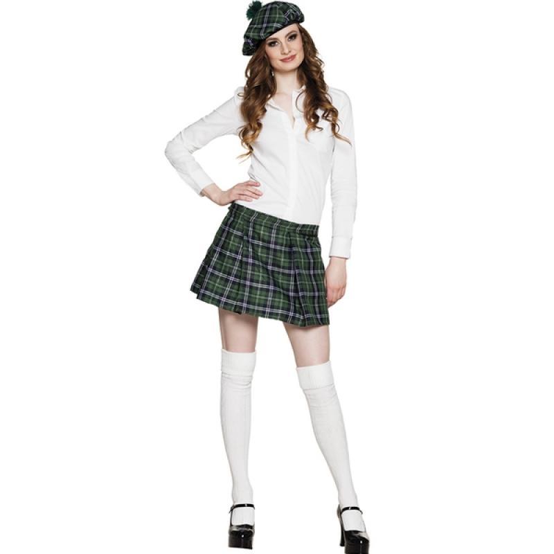 8f93409d5 Falda escocesa verde para mujer. Comprar Online