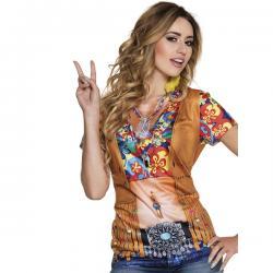 Camiseta de hippie flower power para mujer - Imagen 1