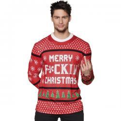 Camiseta navideña Merry Fckin Christmas para hombre - Imagen 1