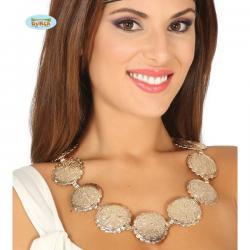 Collar con medallones plateados - Imagen 1