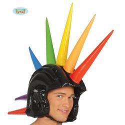 Casco con cresta hinchable multicolor - Imagen 1