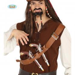 Cinturón de pistolas para el pecho con pistolas piratas - Imagen 1