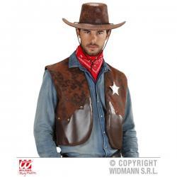 Chaleco vaquero marrón para hombre - Imagen 1