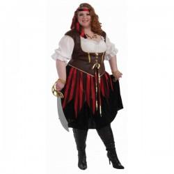 Disfraz de corsaria talla extra grande - Imagen 1