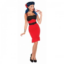 Disfraz de Scarlet Rose Rock Pin Up - Imagen 1