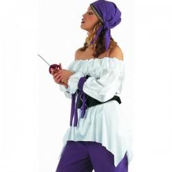 Camisa de mujer pirata - Imagen 1